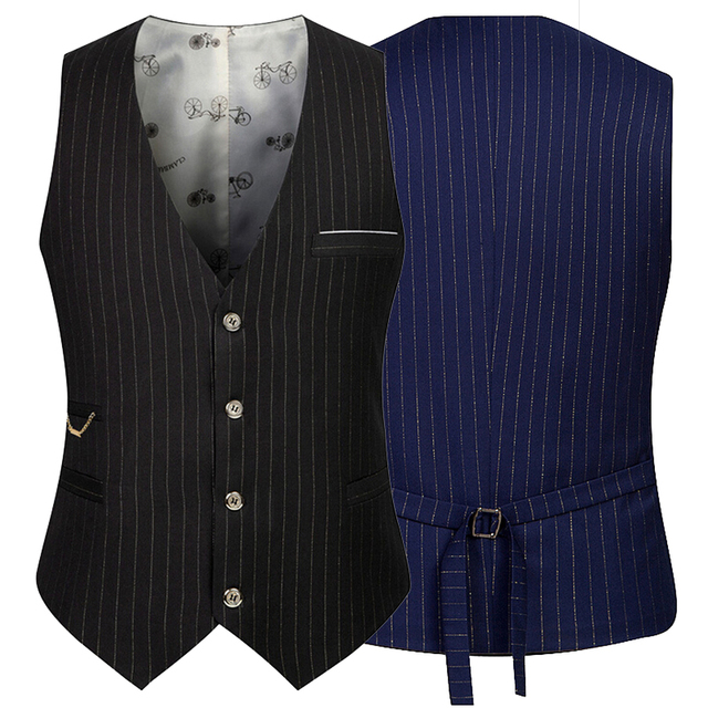 Top Quality Navy Black Wedding Waistcoat Men Suit Vest Tuxedo Business Formal Sleeveless Jacket For Men Plus Size XXXL