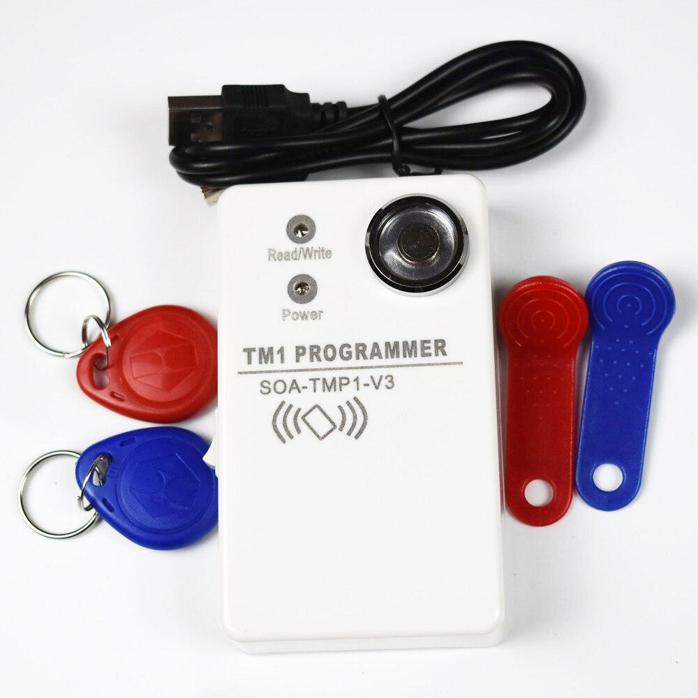 RFID 125 Khz Carte Copieur 2 Dans 1 EM4100 TK4100 carte iButton Lecteur + 2 pcs RW1990 + 2 pcs EM4305 Tag