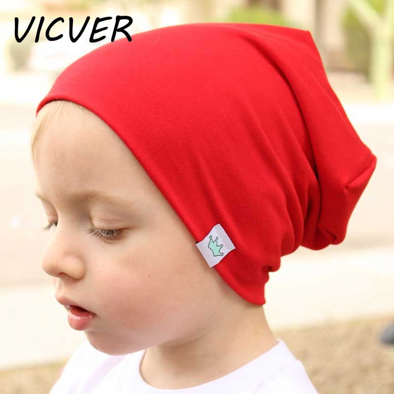 Winter Hat for Children Cotton Knitted   Skullies     Beanies   Newborn Baby Embroidery Crown Hat Girls Boys Autumn Solid Outdoor Cap