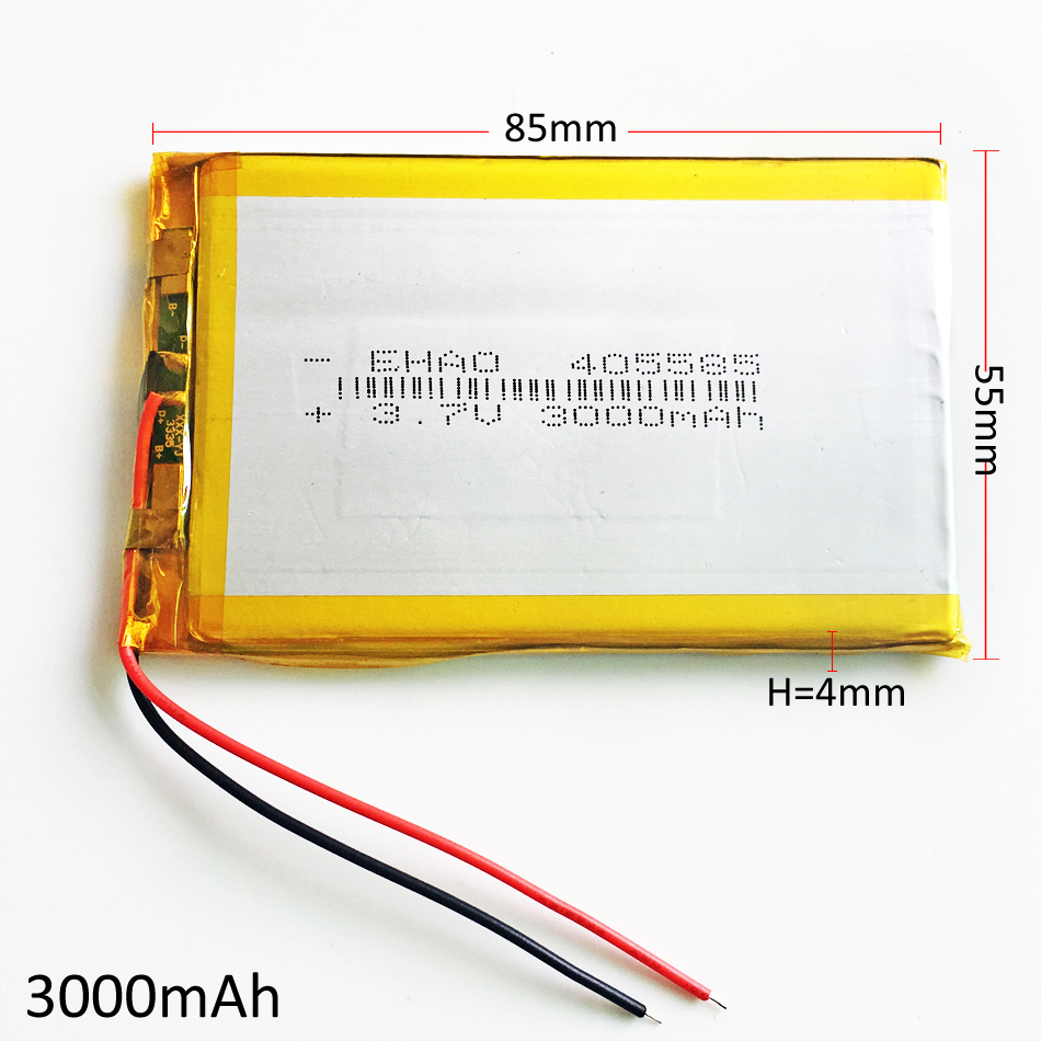 405585 3000mAh 3.7V Lithium Polymer Battery Li ion Lipo ...