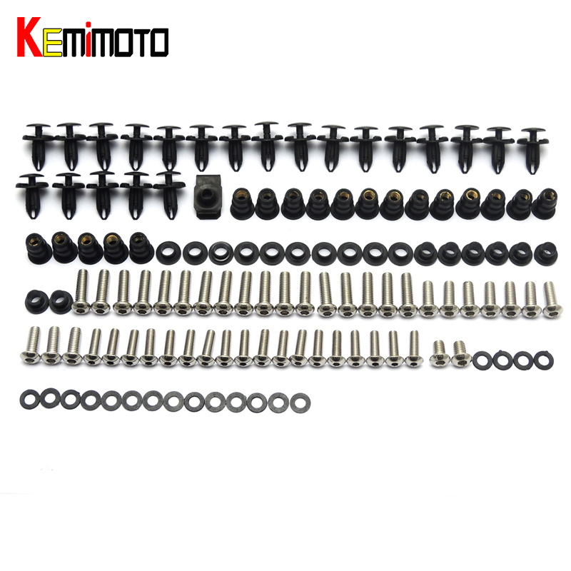 KEMiMOTO CBR1000RR Motorcycle Fairing Bolt Screw Fastener Fixation for Honda CBR 1000 RR 2004 2005 Complete Kit brand wallets high quality real crazy horse leather wallet genuine leather cowhide long men clutch purse card holder