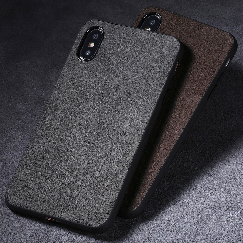 Fashion Suede Phone Case For IPhone X 7plus 8plus Leather