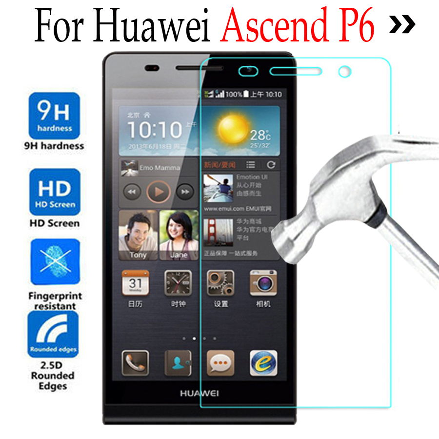 9H Premium Tempered Glass For Huawei Ascend P6 P6S S-U06 Screen Protector For Huawei P6 glass Cover phone protective film Case