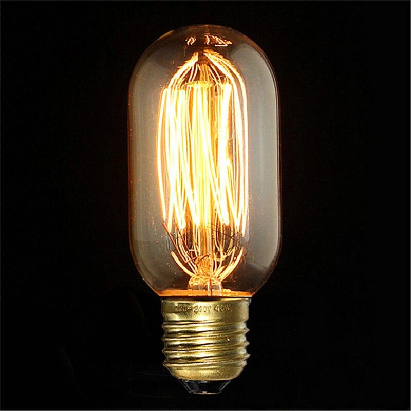 E27 40w Vintage Retro Filament Edison Tungsten Light Bulb: Smuxi Edison Light Bulb E27 T45 40W Vintage Incandescent