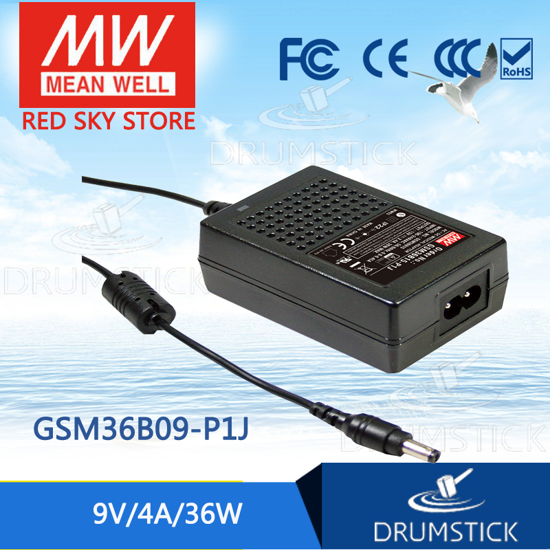 Advantages MEAN WELL GSM36B09-P1J 9V 4A meanwell GSM36B 9V 36W AC-DC High Reliability Medical Adaptor advantages mean well original gsm220b12 r7b 12v 15a meanwell gsm220b 12v 180w ac dc high reliability medical adaptor