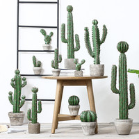 Scandinavian ins photographic props multi fleshed cactus bonsai artificial plant potted home hotel decoration