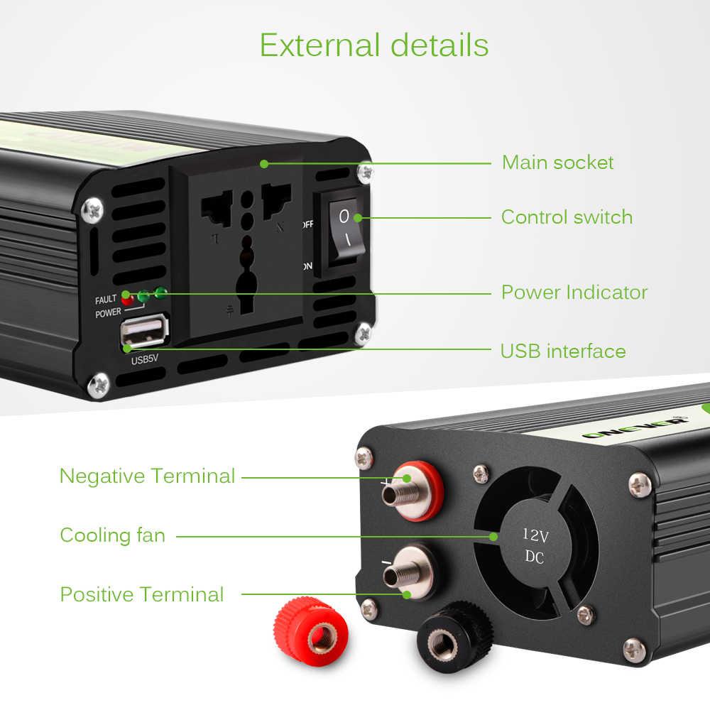Inversor do carro 12v a 220v 2000 w inversores de potência dc ac voltagem transformador conversor 12 220 + 2.1a usb carregador adaptador para iphone7