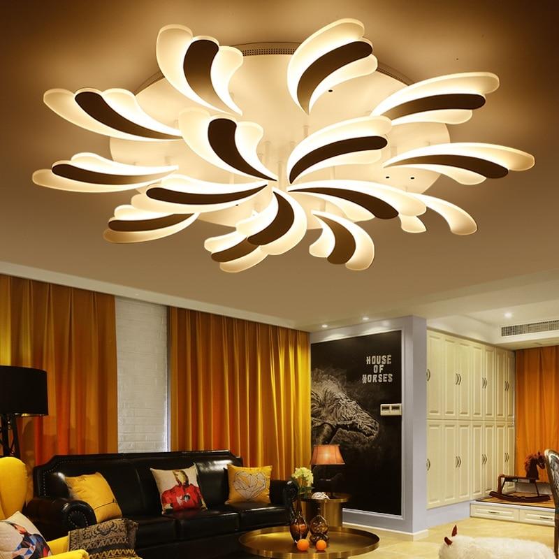 Işıklar ve Aydınlatma'ten Tavan Işıkları'de Yeni desen Modern sanat LED ev tavan lambası ticari dekorasyon LED iç aydınlatma Tavan ışıkları 90 265 V title=