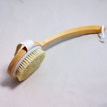 42*11cm Curved Long-handled Bristle Detox Wooden Body Brush Skin Brush bathroom accessories
