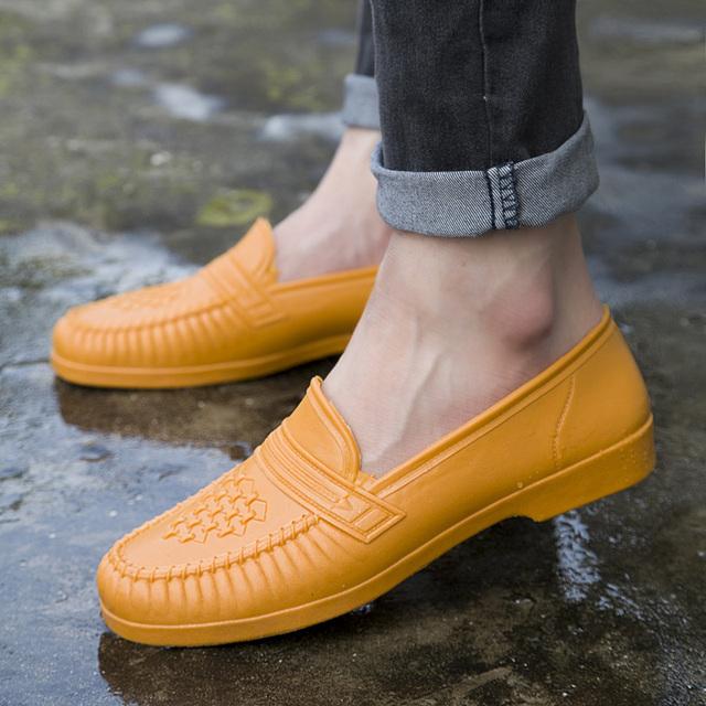 Unisex Men Women Casual Shoes Waterproof Solid loafer