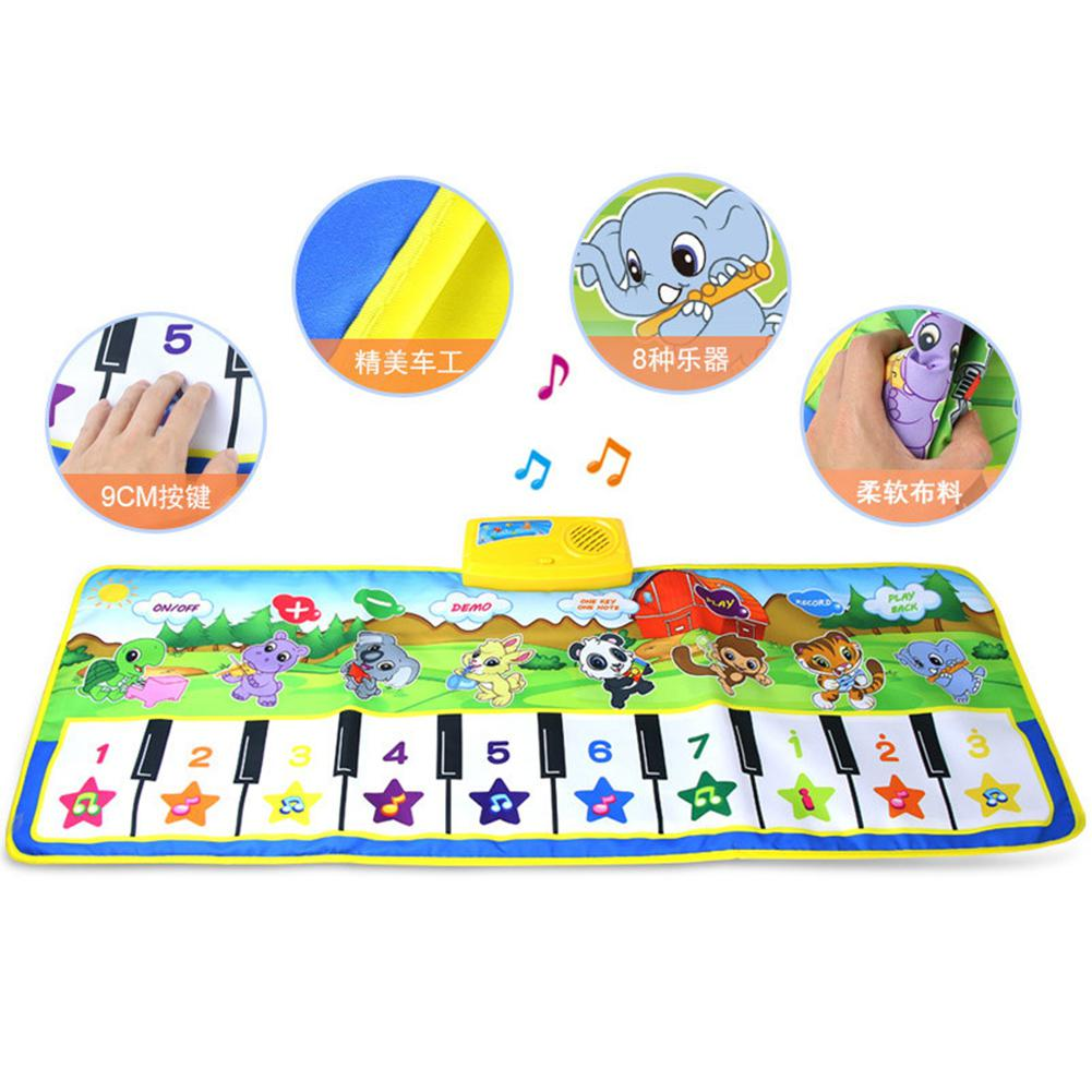 Farm Animal Piano Pattern Music Crawling Carpet Toy For Kids Infant