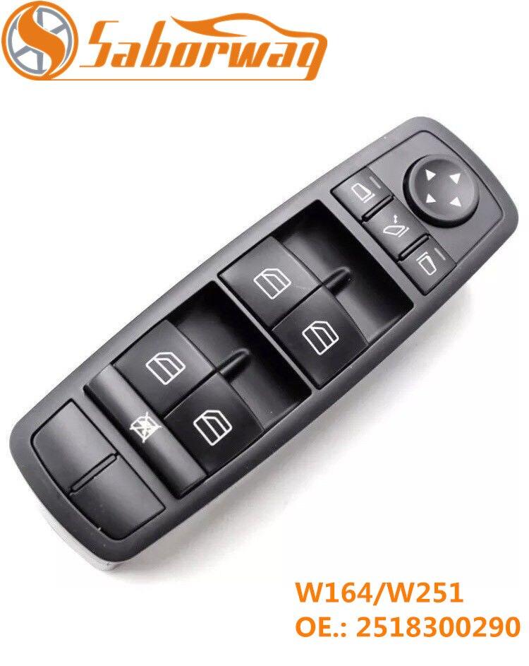 Saborway Commutateur Vitre Électrique Pour W164 GL320 GL350 GL450 2007 2008 2009 2010 2012 2518300290 A2518300290