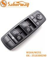 Saborway Power Window Switch For W164 GL320 GL350 GL450 2007 2008 2009 2010 2012 2518300290 A2518300290