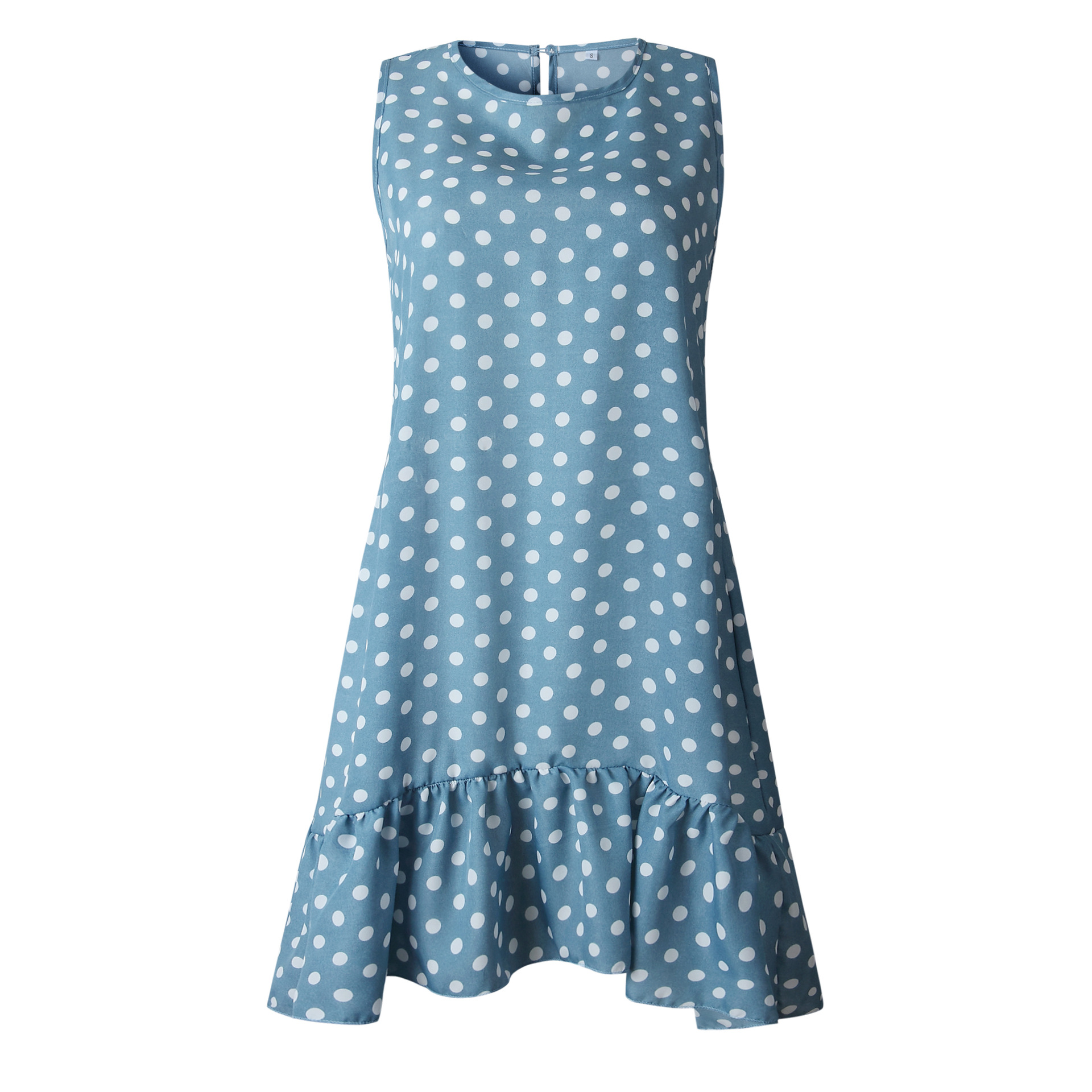 Wontive Dropshipping Spring and Summer Fashion Fresh and Lovely Print Wave Point Ruffle Ladies Dress in Dresses from Women 39 s Clothing