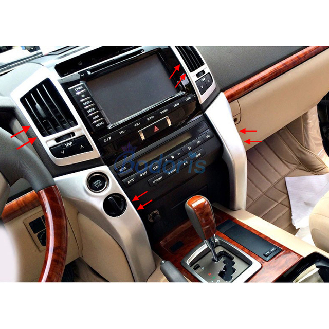 For Toyota LC Land Cruiser 200 2008 2009 2010 2011 2012 2013 2014 2015 Interior Moulding Trim Chrome Car Styling Accessories
