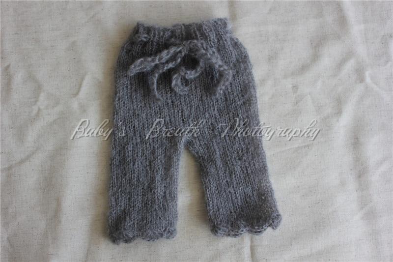 Nauwkeurig Pasgeboren Knit Mohair Broek Baby Fotografie Prop Jongen Meisje Foto Rekwisieten Fijn Vakmanschap