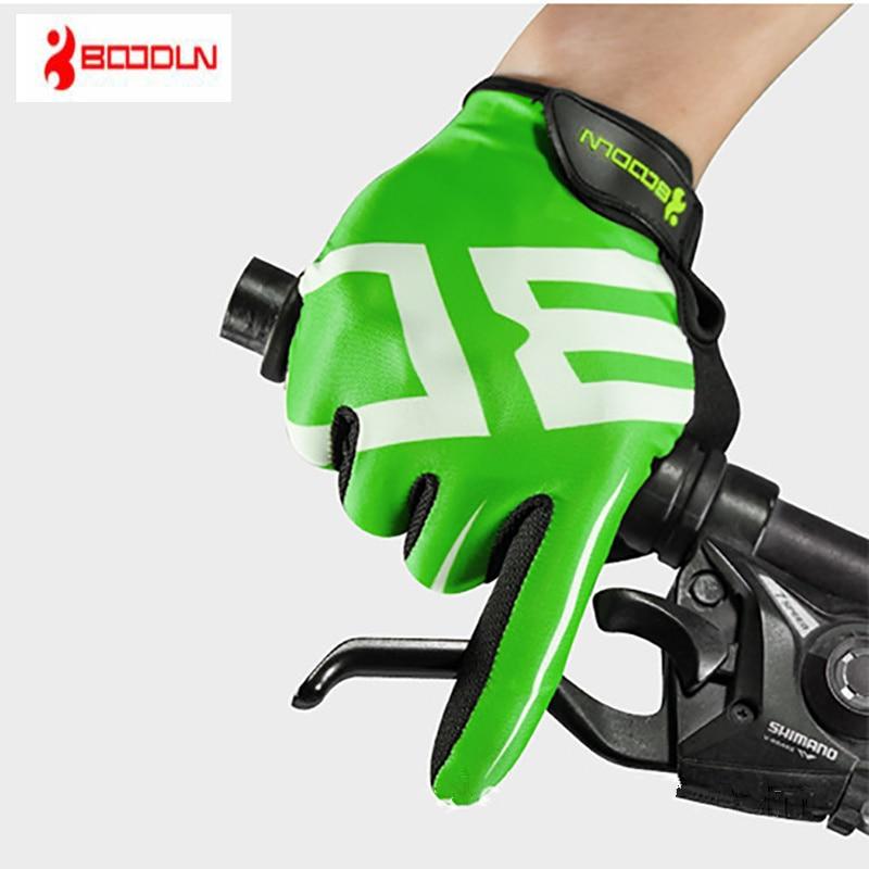 Boodun MTB Зимние перчатки для езды на велосипеде, Длинные мужские спортивные перчатки, противоскользящие Гелевые перчатки для езды на мотоцикл