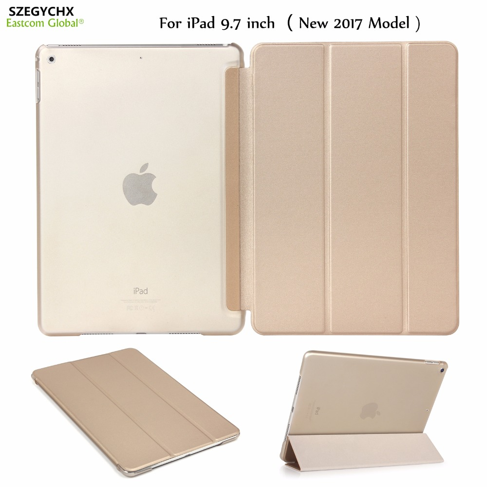 Tablet Case For ipad 9.7 inch, NEW 2017 Model, A1822 A1823 SZEGYCHX, Color PU Ultra Slim Magnet wake Smart Cover function Case new 3u ultra short computer case 380mm large panel big power supply ultra short 3u computer case server computer case