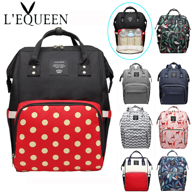 Baby Diaper Bags Large Capacity Infant Nappy Changing Bag Baby Nursing Zip Backpack Mummy Maternity Nappy Bags Baby Care