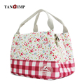 TANGIMP 2017 Lunch Bags for Women Floral Striped Insulated Thermal Food Picnic Bags Kids Men Cooler Lunchbox Tote