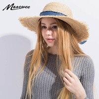 الأزياء الغصن سترو القبعات المرنة واسعة كبيرة الشمس قبعة جميلة الشباب القوس الشريط قبعة الشاطئ قبعات بنما الصيف للنساء فتاة