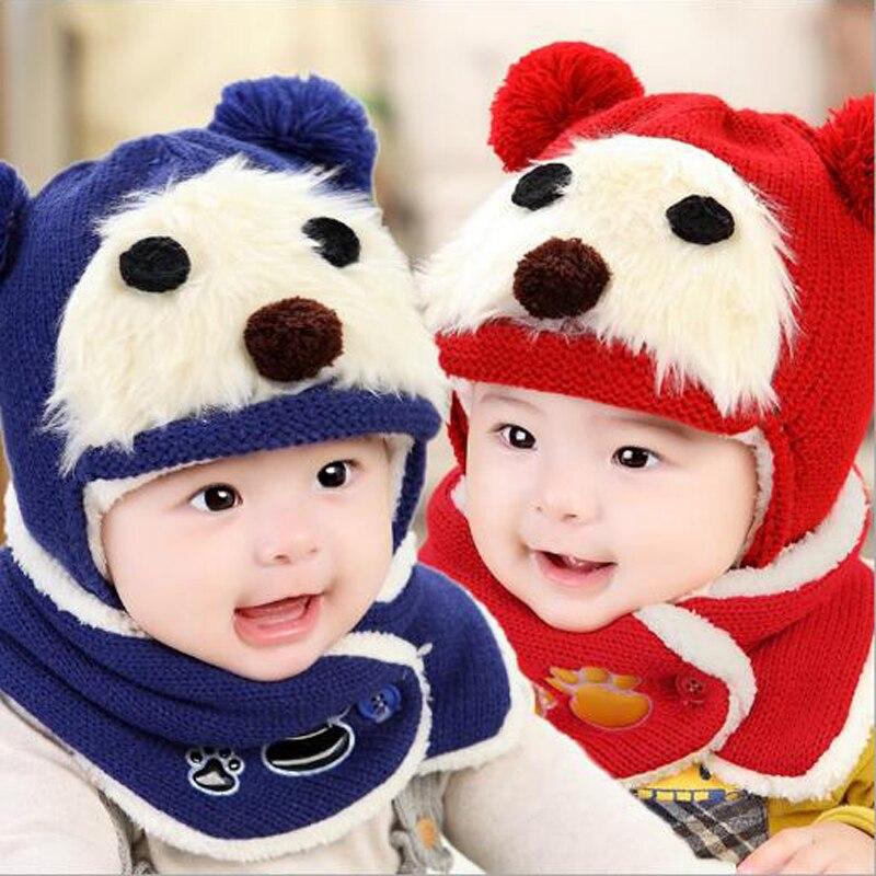 ღ Ƹ̵̡Ӝ̵̨̄Ʒ ღBebé Niñas Niños sombrero y bufanda oso lindo ...