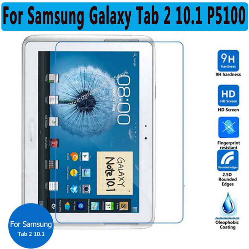 9H Tempered Glass for Samsung Galaxy Tab 2 10.1 P5100 P5110 P5113 Tab2 10.1 Screen Protector Film Clear Screen Protect Cover 9h tempered glass screen protector for samsung galaxy tab 2 10 1 p5100 tablet protective film for samsung galaxy note 10 1 n8000