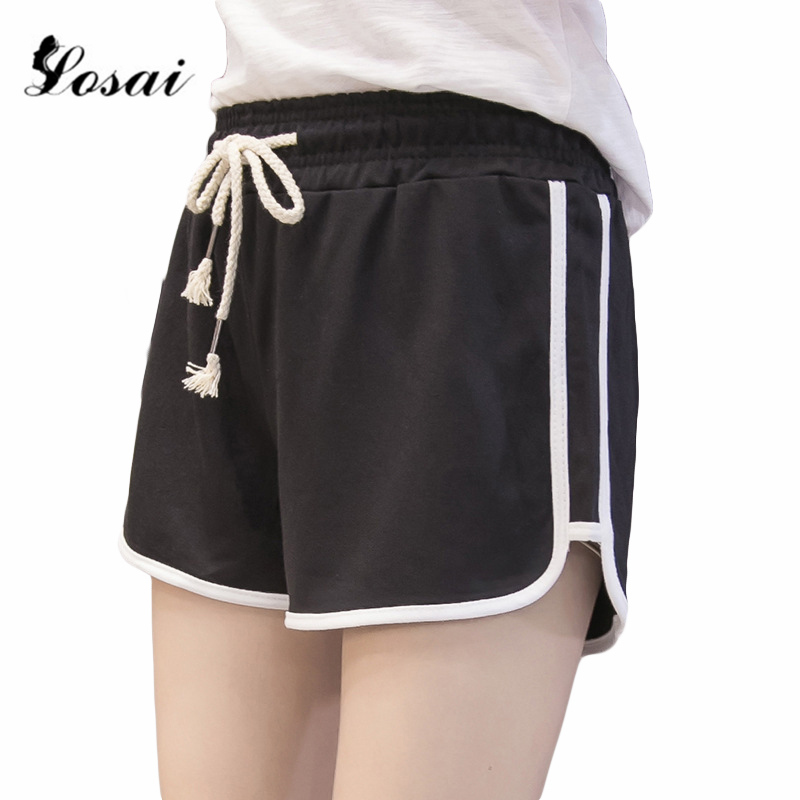 2019 Plus Size Fitness Black   Shorts   Women Summer Beach Mini   Shorts   Women Hot Pants Sexy   Short   Pants for Women Female Harajuku