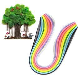 Смешанный Цвет 160 в полоску 3 мм Ширина Рюш Бумага для DIY Craft 390 мм Длина оригами Бумага