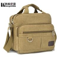 Kissyenia Vintage Canvas Briefcase Men Laptop Suitcase Travel Handbag Men Business Bags Male Messenger Bags Shoulder Bags KS1012