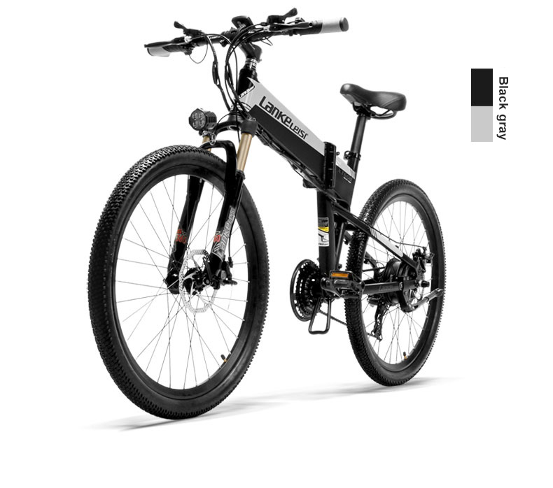 HTB1jOTgXOLxK1Rjy0Ffq6zYdVXaW - 26inch electric mountian bicycle folding  frame 48V  lithium battery hidden frame 400w high speed motor range 60-100km