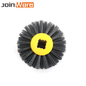 Abrasives Wire Drawing Wheel Nylon Burnishing Wheel Brush For Wooden Furniture Polishing 80 120 180 240# 120*100*20mm