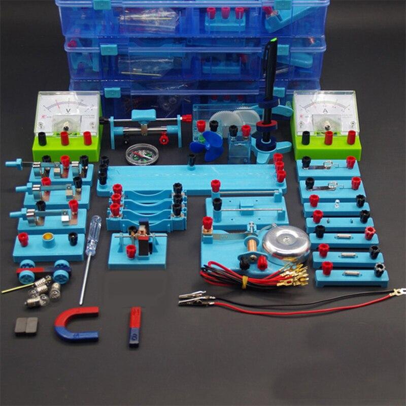 Novo junior high school física elétrica equipamentos experimentais conjuntos de ferramentas caixa experimental equipamentos de ensino auxiliares