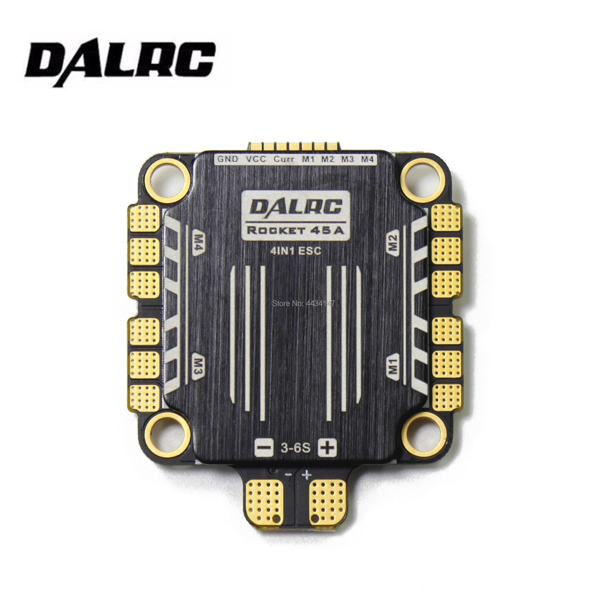 DALRC Rocket 45A 4IN1 ESC BLheli32 DShot1200 4 In 1 Brushless ESC STM32f051 solution ESC no