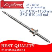 16mm 1610 Ball Screw Rolled C7 Ballscrew SFU1610 1150mm With One 1610 Flange Single Ball Nut