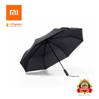 Original Xiaomi Mijia Automatic Sunny Rainy Umbrella Aluminum Windproof Waterproof UV Umbrella Man Woman Summer Winter