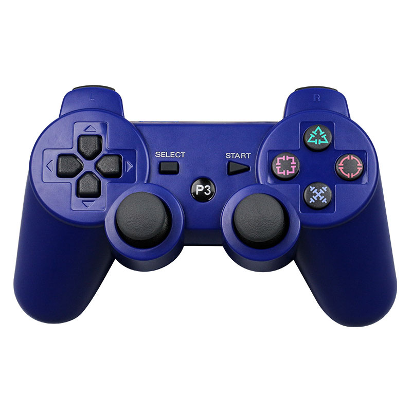 For Sony Playstation3 szKosTon 11 Colors 2.4GHz Wireless Bluetooth Game Controller For PS3 Controller Joystick Gamepad Top Sale blue
