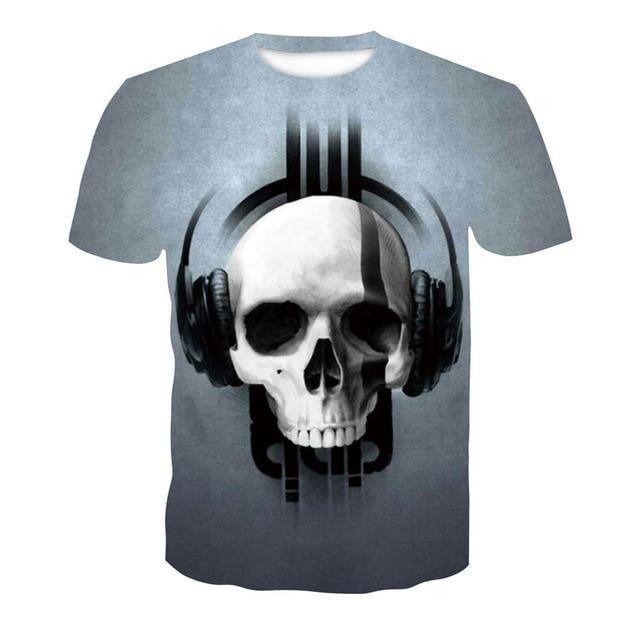 2018 new skull 3D T Shirt Summer Mens Fashion Tops Male Print harajuku wolf Men Women casual Anime T-Shirts dropshipping 5