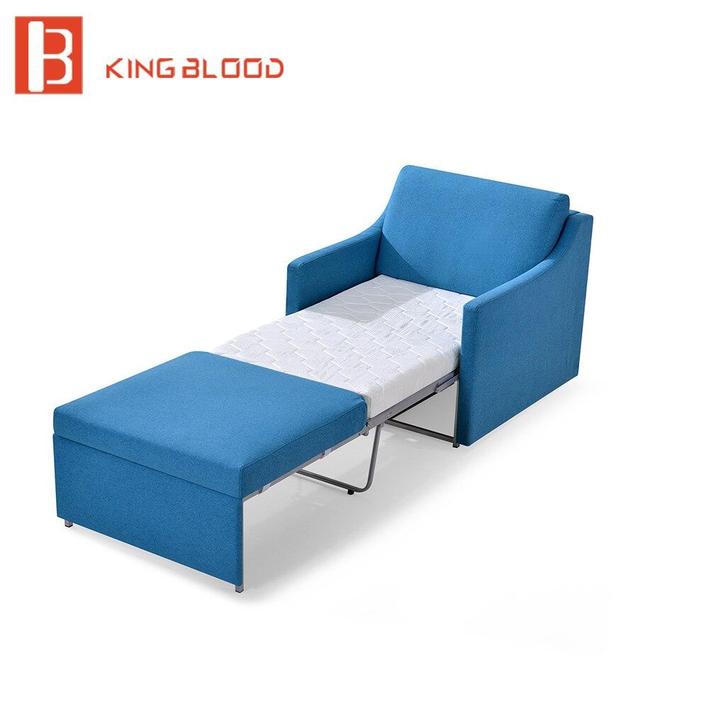Одиночная деревянная кровать софы ткани футона больницы трансформатора
