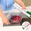 1 rolle Frische Halten Wärme Sealer Food Saver Tasche Vakuum Lebensmittel Obst Kunststoff Taschen Saran Wrap mit Gürtel cutter|Plastikfolie-Spender|   -