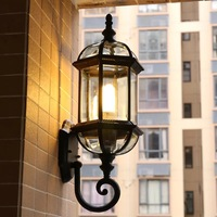 HAWBOIRRY European garden balcony living room wall outdoor store decoration wall lamp American minimalist interior bedroom lamp