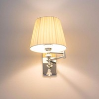 HGhomeart Modern Sconce Wall Lights Luminaria Bedside Reading Lamp Swing Arm Wall Lamp E27 Crystal Wall Sconce Bathroom Lights