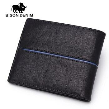 Genuine Leather Wallet Men BISON DENIM