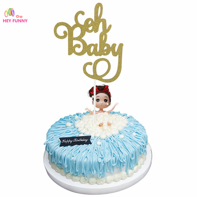 HEY FUNNY 1Pc Gold Glitter Oh Baby Cake Topper 1St Birthday Its a