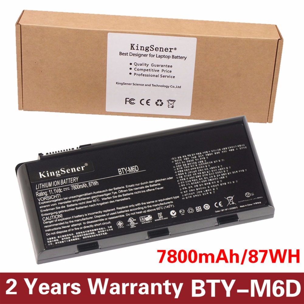 11.1V 7800mAh New BTY-M6D Laptop Battery for MSI GT60 GT70 GX780R GX680 GX780 GT780R GT660R GT663R GX660 GT680R GT783R 9CELLS фотоаппарат компактный nikon coolpix a100 red