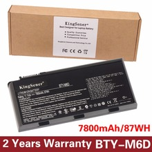 11.1V 7800mAh New BTY-M6D Laptop Battery for MSI GT60 GT70 GX780R GX680 GX780 GT780R GT660R GT663R GX660 GT680R GT783R 9CELLS