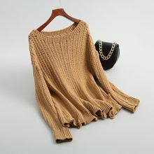 Shuchan Female Sweater 2018 Autumn Hollow Out Casual Loose Women Sweaters And Pullovers Long Sleeve Clothing 8-3326