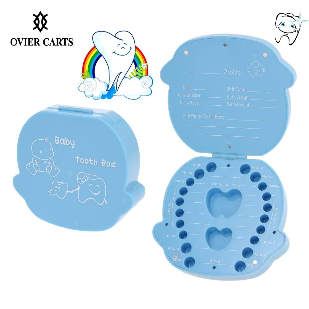 Baby Milk Teeth Storage Collect Teeth Umbilica Save Gifts Plastic Tooth Box Organizer  Baby Care(China)