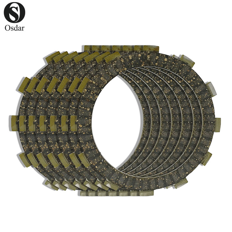 Motorcycle Clutch Friction Plates Kit For Suzuki RGV 250 90-94 DR 350 90-99 GSX 400 80-87 1989- GS 450 80-81 84-88 GS 500 89-07