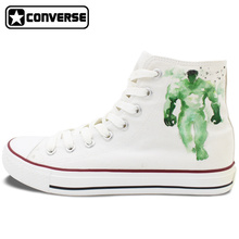 Men Women Converse All Star Hero Marvel's The Avengers Hulk Captain America Custom Design Hand Painted Shoes Boys Girls Sneakers